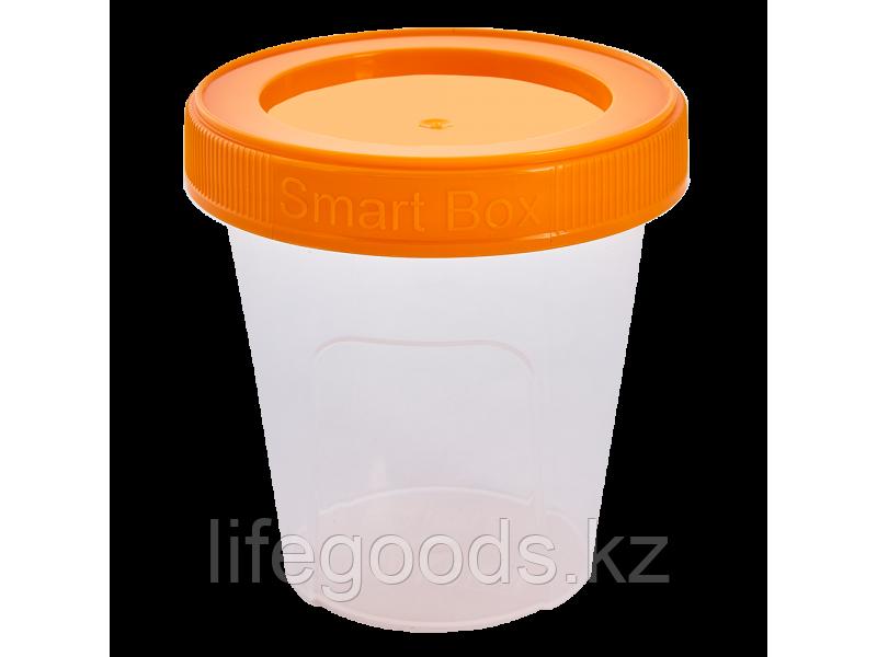 """Контейнер """"Smart Box"""" круглый 0,24л. (прозрачный/светло-оранжевый) 171215023"""