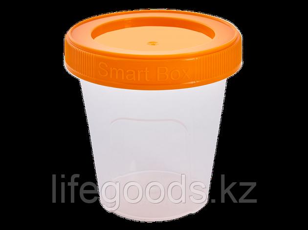 """Контейнер """"Smart Box"""" круглый 0,24л. (прозрачный/светло-оранжевый) 171215023, фото 2"""