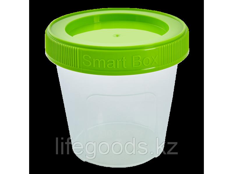 """Контейнер """"Smart Box"""" круглый 0,35л. (прозрачный/оливковый) 171215034"""