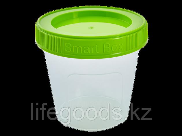 """Контейнер """"Smart Box"""" круглый 0,35л. (прозрачный/оливковый) 171215034, фото 2"""