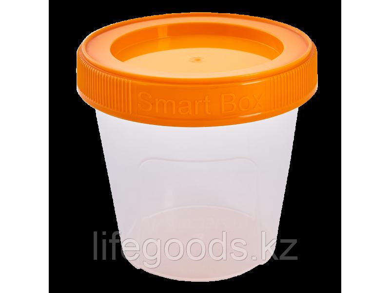 """Контейнер """"Smart Box"""" круглый 0,35л. (прозрачный/светло-оранжевый) 171215033"""