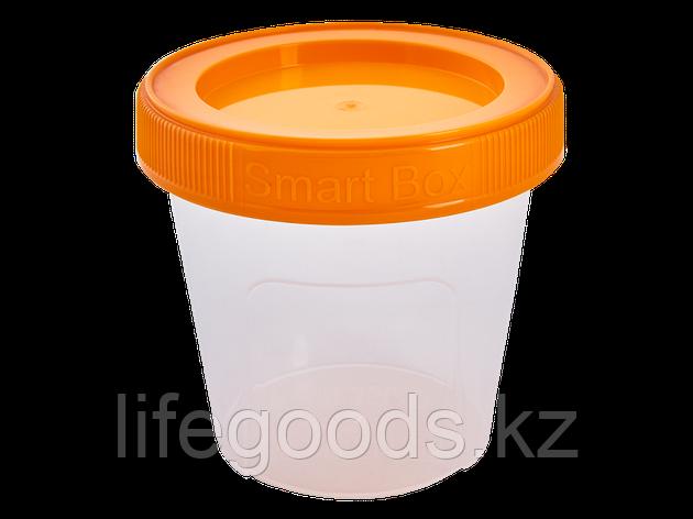 """Контейнер """"Smart Box"""" круглый 0,35л. (прозрачный/светло-оранжевый) 171215033, фото 2"""