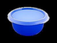 Миска кухонная с крышкой 1,75л. (синяя/прозрачная) 180510044