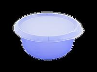 Миска кухонная с крышкой 1,75л. (фиолетово-прозрачный/прозрачная) 180510042