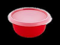 Миска кухонная с крышкой 1,75л. (красная/прозрачная) 180510043