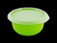 Миска кухонная с крышкой 2,75л. (оливковая/прозрачная) 180510046