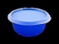 Миска кухонная с крышкой 2,75л. (синяя/прозрачная) 180510048