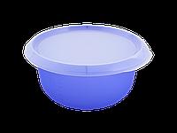 Миска кухонная с крышкой 2,75л. (фиолетово-прозрачная/прозрачная) 180510049