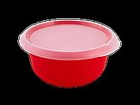 Миска кухонная с крышкой 2,75л. (красная/прозрачная) 180510050