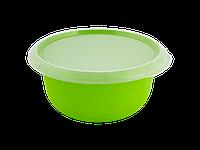 Миска кухонная с крышкой 3,75л. (оливковая/прозрачная) 180510052
