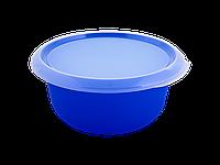 Миска кухонная с крышкой 3,75л. (синяя/прозрачная) 180510054