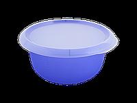 Миска кухонная с крышкой 3,75л. (фиолетово-прозрачная/прозрачная) 180510055