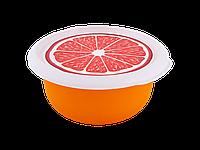 Миска с крышкой с декором 2,75л. (Фрукты, светло-оранжевый) 180510071