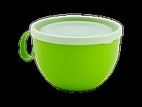 Чашка с крышкой 0,5л. (оливковая/прозрачная) 150700023