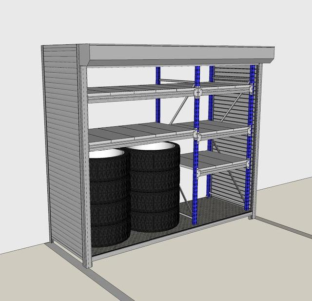 Шкафы для паркинга и автомобильных шин