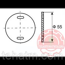 Круглая бирка для маркировки силового кабеля У-135 свыше 1000 вольт в упаковке 1000 штук PUE-135