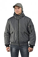 "Куртка демисезонная с капюшоном URSUS ""БОМБЕР"" (тк.джордан)(серый) 52-54"