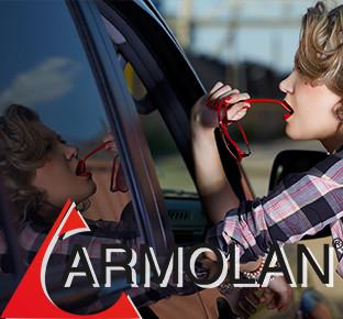 Тонирование автомобиля пленкой США Armolan седан Тонировка