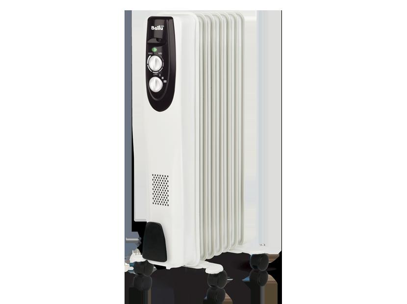 Радиатор масляный BALLU BOH/CL-07WRN 1500 1500Вт 7 секции до 20м2 6 кг защита от перегрева