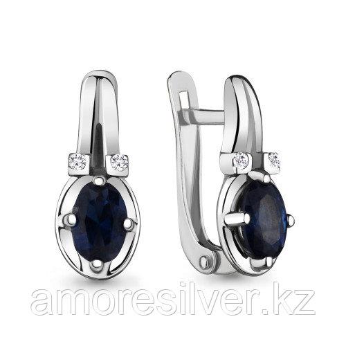 Серебряные серьги с фианитом   Aquamarine 48257Б.5