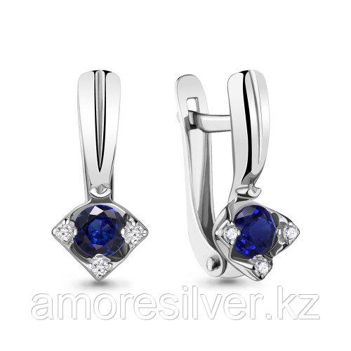 Серьги из серебра с фианитом  Aquamarine 48256Б.5