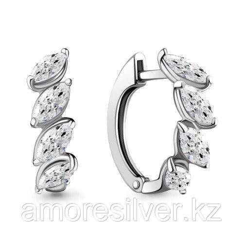 Серьги из серебра с фианитом   Aquamarine 46182.5