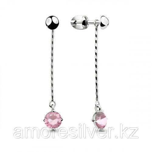 Серебряные серьги с фианитом   Aquamarine 46063Р.5