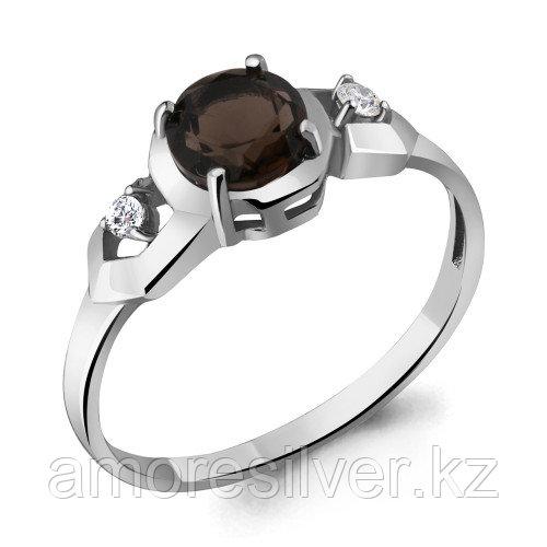 Серебряное кольцо с фианитом и раухтопазом    Aquamarine 6448801А.5