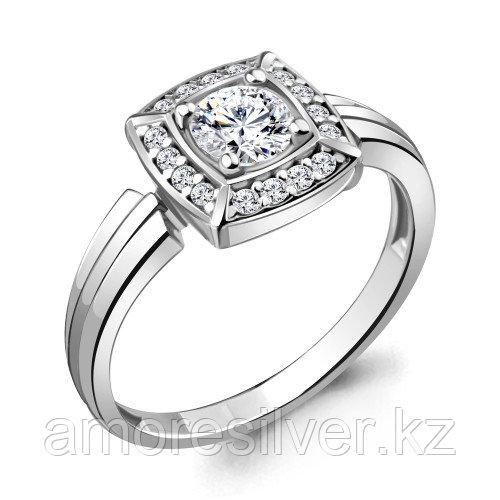 Серебряное кольцо с фианитом  AQUAMARINE 68745А.5 размеры - 17,5 18 18,5