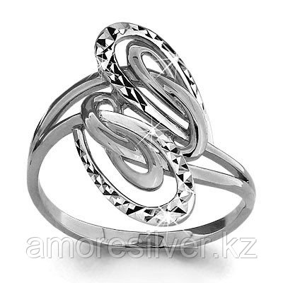 Кольцо из серебра AQUAMARINE размеры 17,5