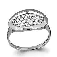 Серебряное кольцо с фианитом   Aquamarine 62403А