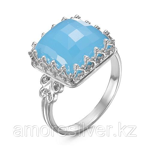 Кольцо из серебра с агатом голубым   Красная Пресня 23311392Дг