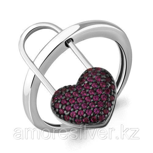 Кольцо из серебра с рубином   Aquamarine 64771В.5