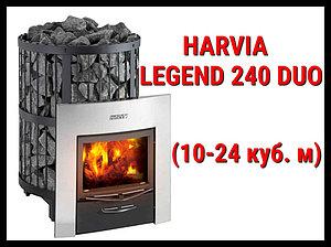 Дровяная печь Harvia Legend 240 Duo с выносной топкой
