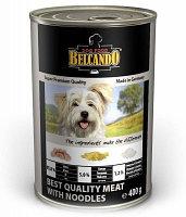 512515 Belcando Best Quality meat with noodle, Белькандо влажный корм для собак с телятиной и макаронами,400гр
