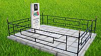Ограда металлическая одноместная для кладбищ