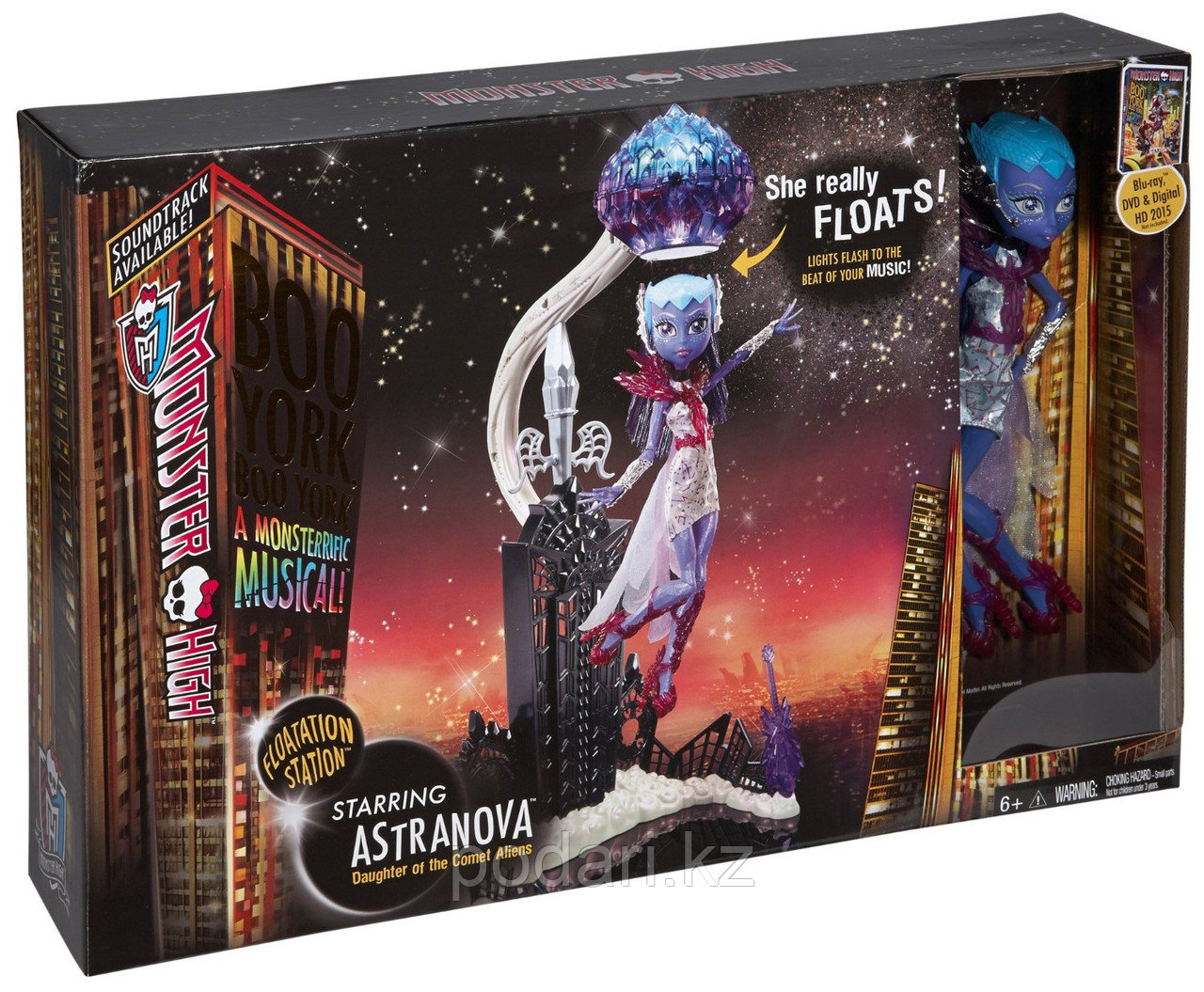 Набор с куклой Монстр Хай Астранова, Monster High Boo York - Floatation Station and Astronova - фото 5