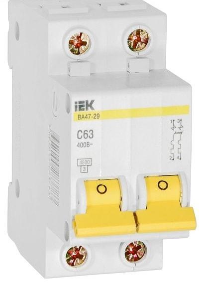 Модульный автоматический выключатель ВА47-29 (2ф) 25А IEK (6/72)