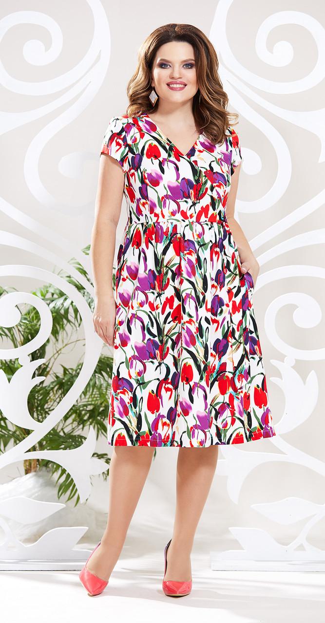 Платье Mira Fashion-4648-2, мультиколор, 48