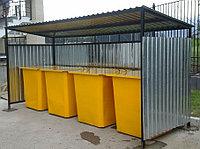 Площадки на 4 мусорных контейнера