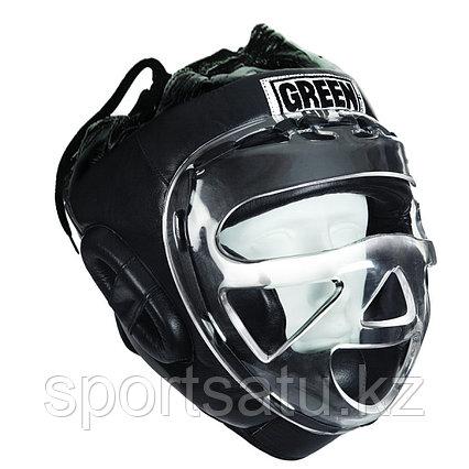 Закрытый шлем для таэквондо и каратэ оригинал GREEN HILL