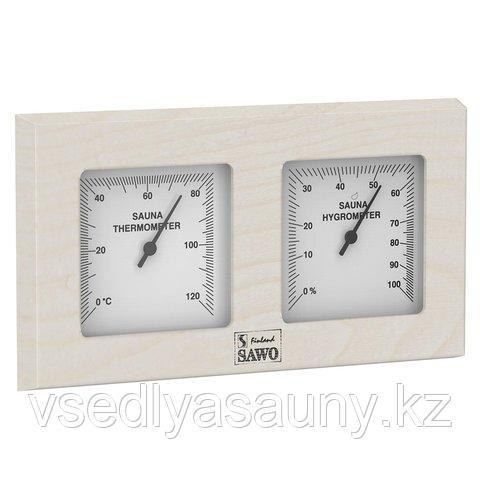 Термогигрометр для бани и сауны. (квадратный). SAWO. Финляндия.