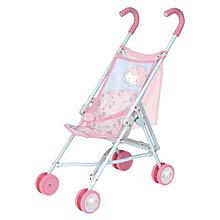 Baby Annabell Коляска-трость для кукол Беби Анабель, с сеткой, розовая
