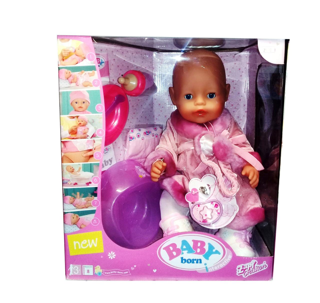 Baby Born Кукла Интерактивная Зимняя, 43 см