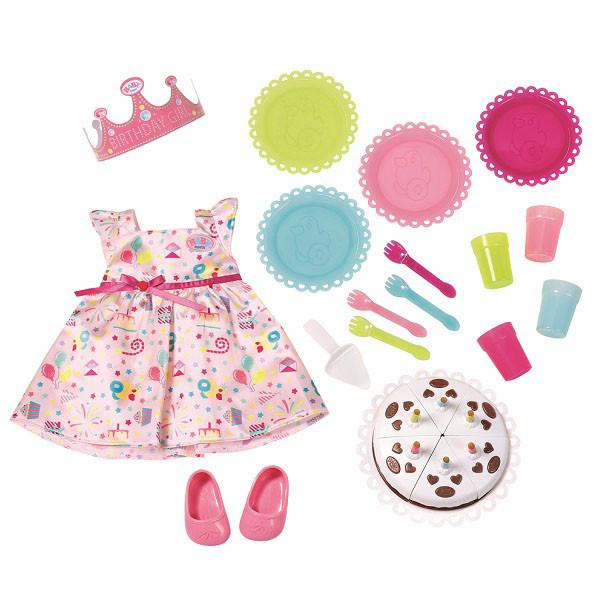 Baby Born Одежда для кукол Бэби Бон - Набор для празднования Дня рождения