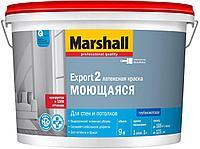 Глубокоматовая водно-дисперсионная (латексная) краска для стен и потолков Marshall Export 2