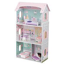 Edufun Деревянный кукольный дом с мебелью 52*27*95