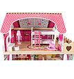 """Edufun Игровой набор """"Деревянный дом для кукол"""" с комплектом мебели 90 см, фото 3"""
