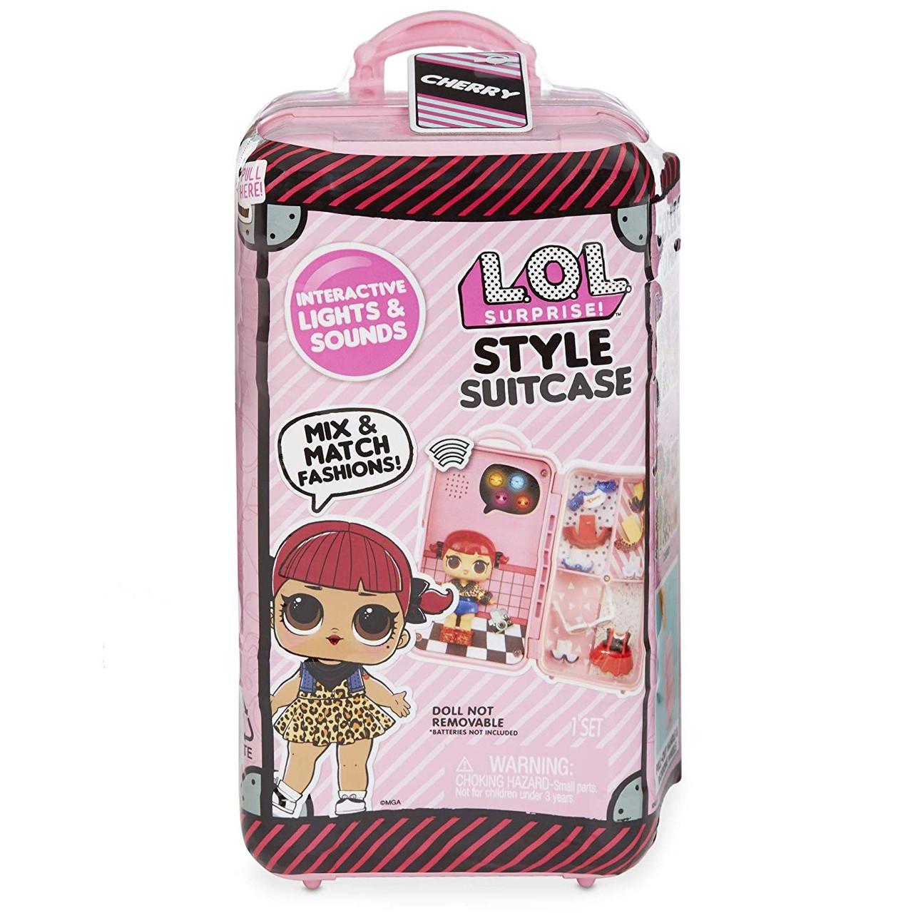 LOL Style Suitcase - Стильный Чемодан ЛОЛ с куклой Вишенкой (15 сюрпризов)