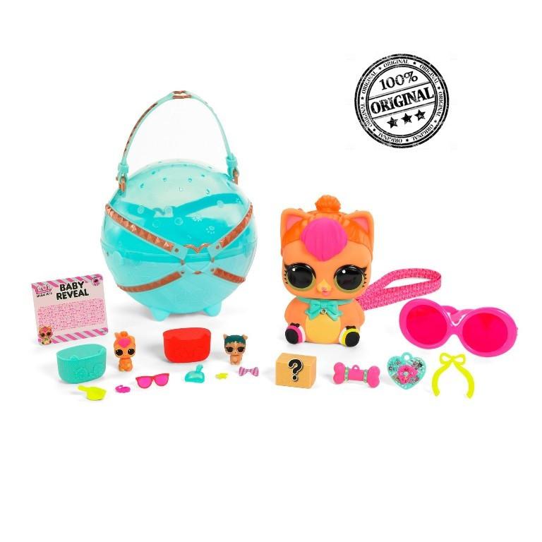 LOL Surprise - Большой шар с питомцами, Biggie Pet - Neon Kitty, Декодер «Eye Spy» (Оригинал)